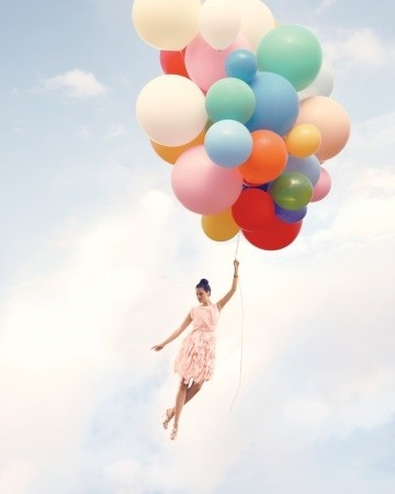 dress, balloons, and beautiful image