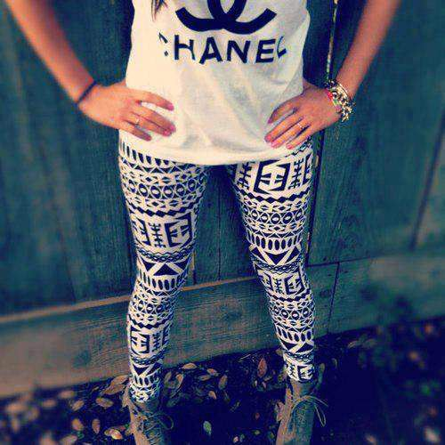 chanel, fashion, and leggings image