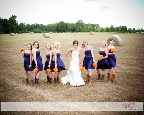 bridesmaids, purple dress, and weddings image