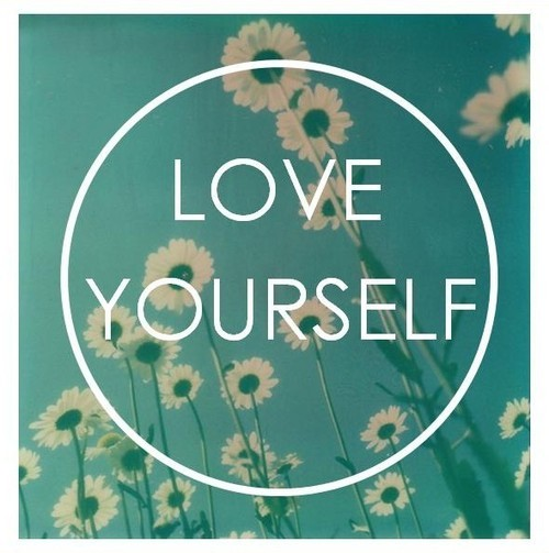 love, yourself, and flowers image