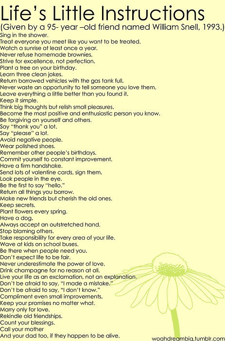 life, quote, and instructions image