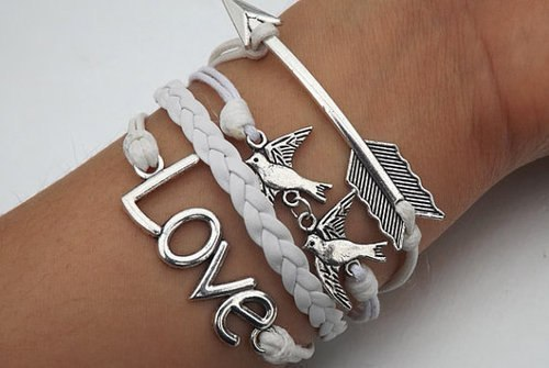 love, bracelet, and accessories image