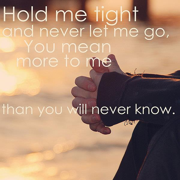 love, hold, and quote image