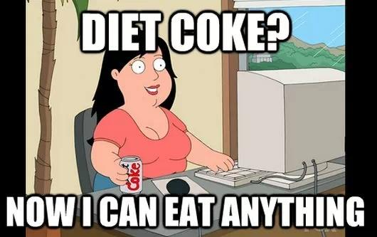 funny, coke, and diet image