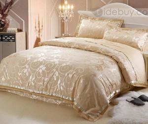 Royal Yellow Drilled 4 Pieces Comforter Bedding Sets : Tidebuy.com