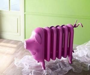 pig, radiator, and pink image