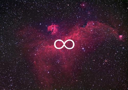 infinity, galaxy, and infinite image