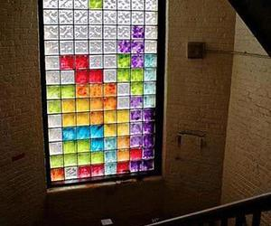 colours, window, and tetris image