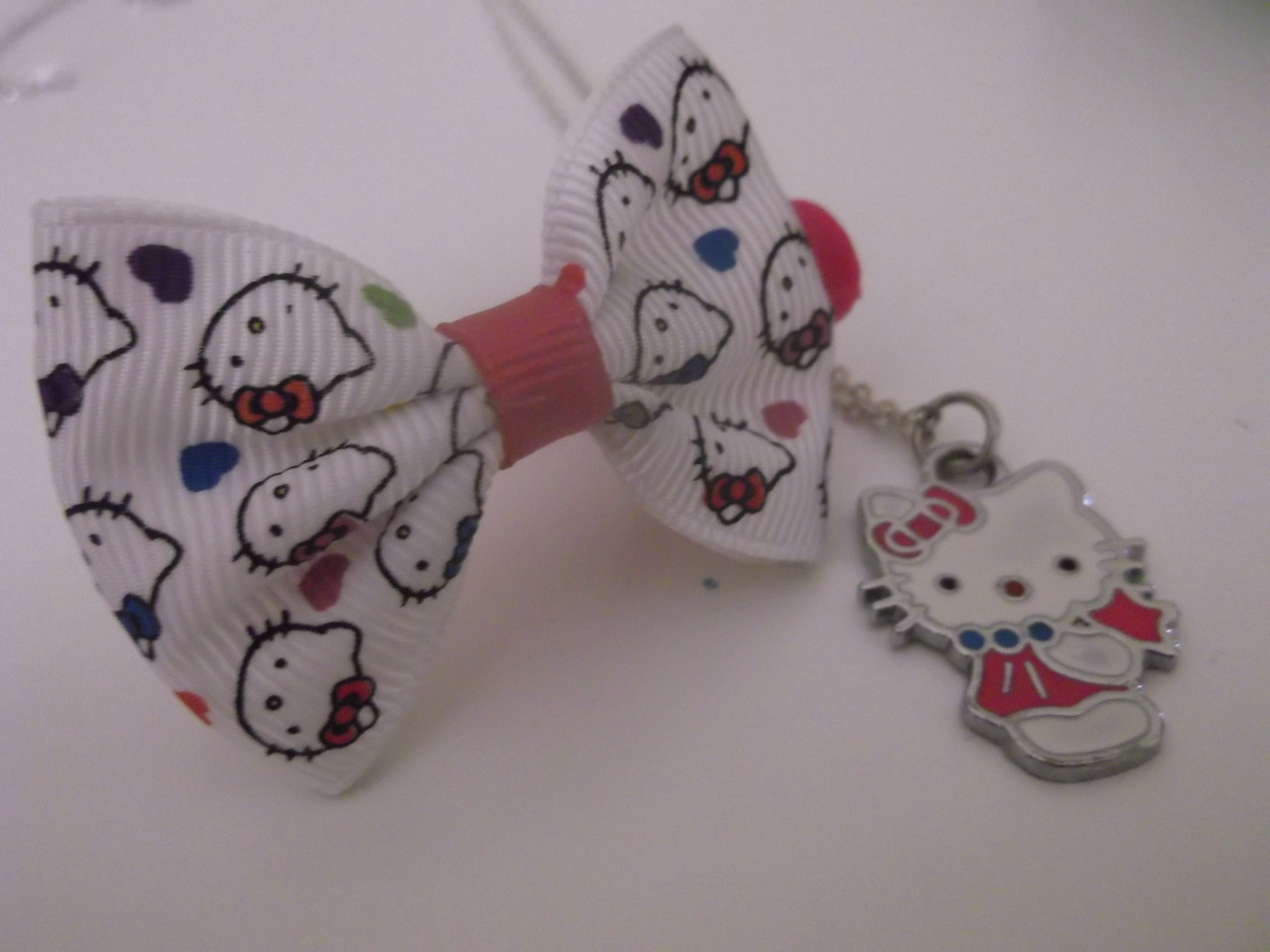 bow, hair, and hello kitty image