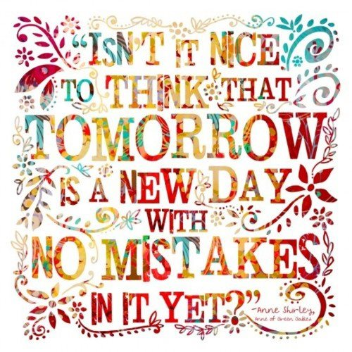 quotes, tomorrow, and mistakes image
