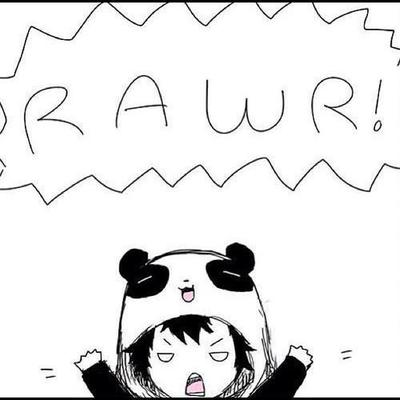 panda, rawr, and black and white image