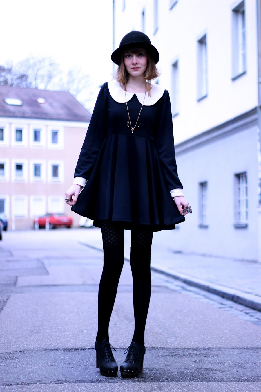 fashion, knee high socks, and outfit image