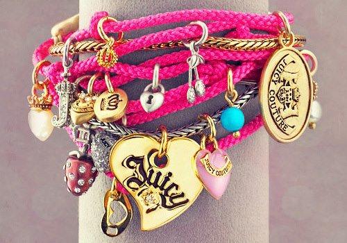 pink, bracelet, and juicy image