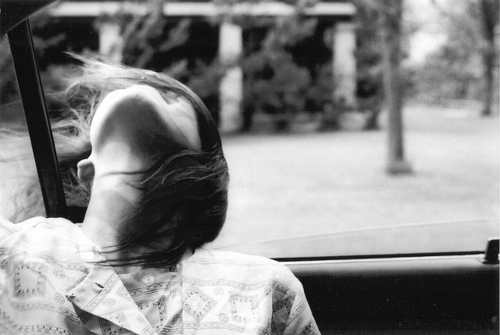girl, wind, and car image