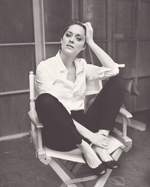 Marion Cotillard, beautiful, and black and white image