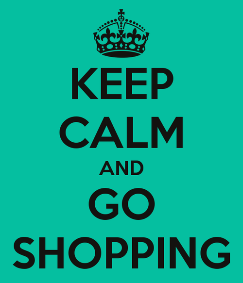 keep calm and shopping image