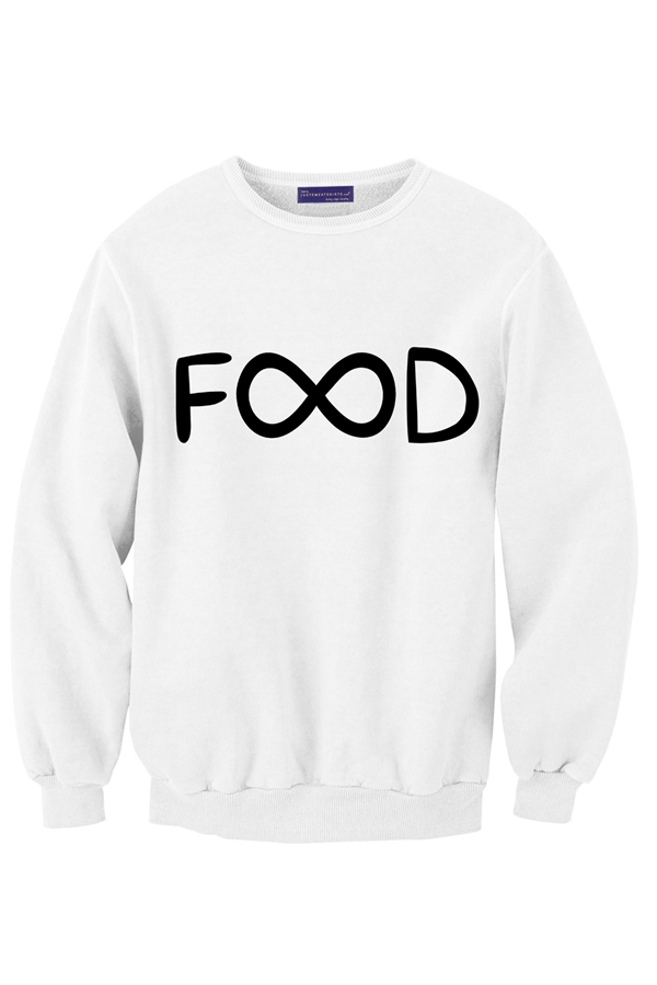 food, infinity, and sweater image