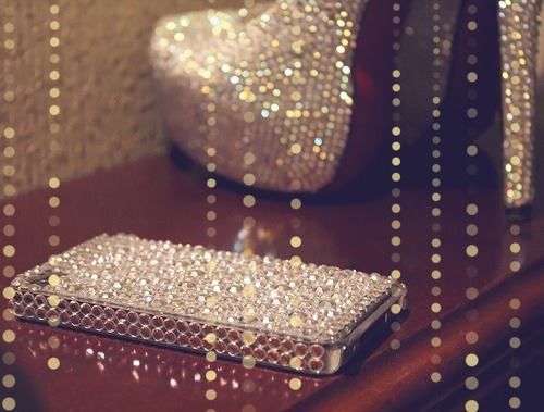 iphone, shoes, and glitter image