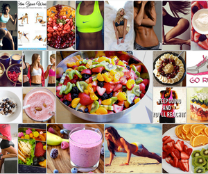 fruit, workout, and fitness image