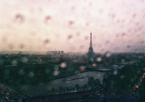 france, rain, and eiffel tower image