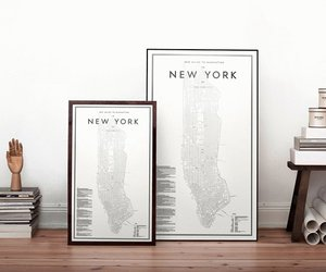 map and new york image