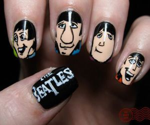 nails, the beatles, and beatles image