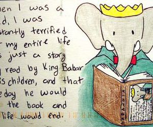 babar, child, and read image