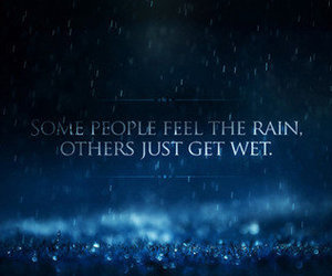 rain, quote, and wet image