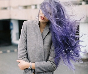 hair, purple, and model image