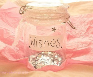 wish, pink, and stars image