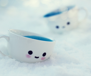 cup, snow, and smile image