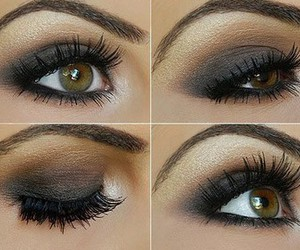 make up, eyes, and makeup image