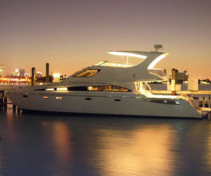 luxury, yacht, and lights image