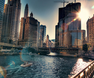 city, photography, and sun image