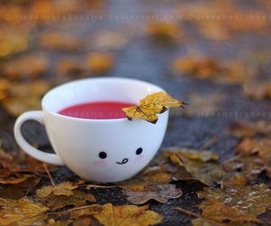 cute, autumn, and cup image