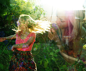 blonde, floral, and colors image