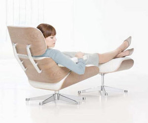 chair, girl, and Eames image