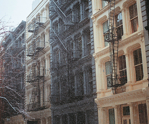 apartment, city, and winter image