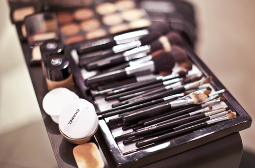 mac make up brushes and brush roll