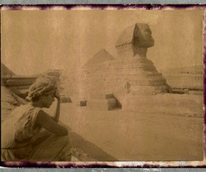 egypt, sphinx, and woman image