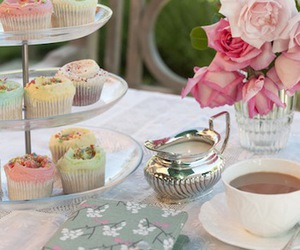 cup, garden, and teatime image