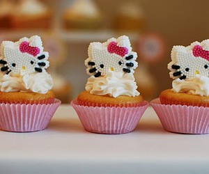 cupcakes, sweet, and HelloKitty image