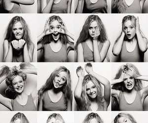 girl, Elle Fanning, and black and white image