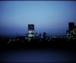 blue, city, and cityscape image