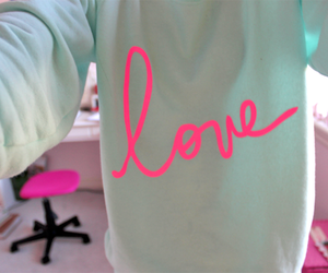 beautiful, pink, and word image