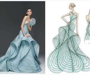 dress, blue, and Versace image