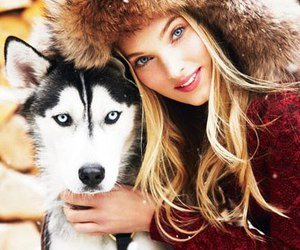 elsa hosk, girl, and dog image