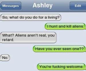 alien, funny, and text image