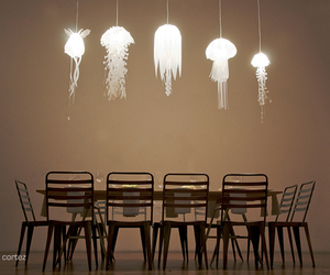 light, jellyfish, and lamp image