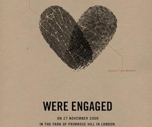 engaged, heart, and wedding image
